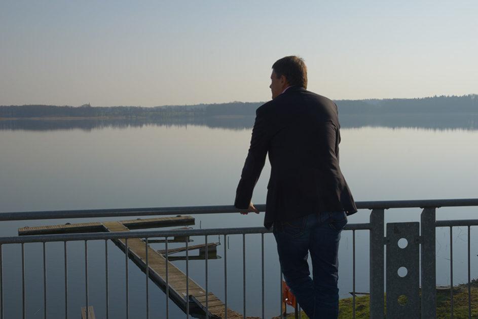 Bewusste Pausen im Internat Schloss Torgelow verbringt Mario Lehmann am liebsten direkt am Torgelower See.