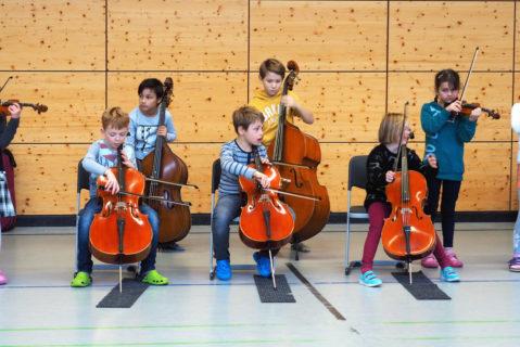 Die Konzerte der Streicher vor der gesamten Schule sind immer ein besonders motivierendes Ereignis.
