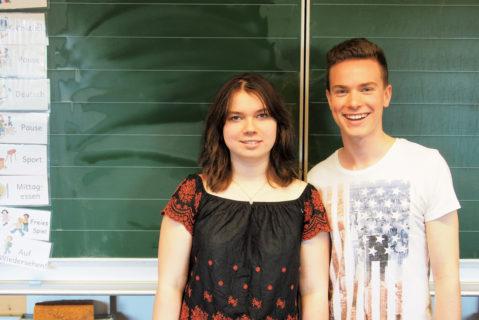 Larissa und Mark sind dankbar für die Erfahrungen, die sie durch den Aktionstag machen können.