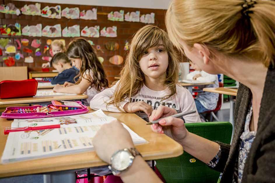 An der Waldparkschule Heidelberg lernen die Kinder länger gemeinsam als an vielen anderen Schulen: Auch nach dem Ende der Grundschule werden die Schülerinnen und Schüler in einer Klasse unterrichtet.