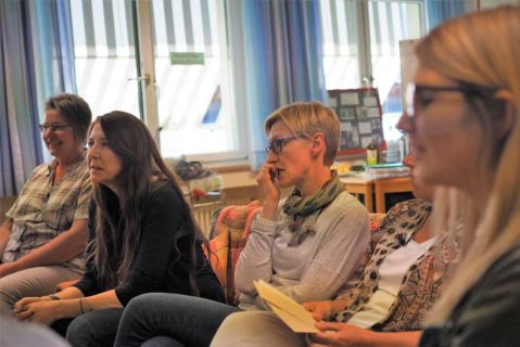 Das Kollegium verfolgt die Rollenspiele und erhält Einblick in mögliche Konfliktsituationen.