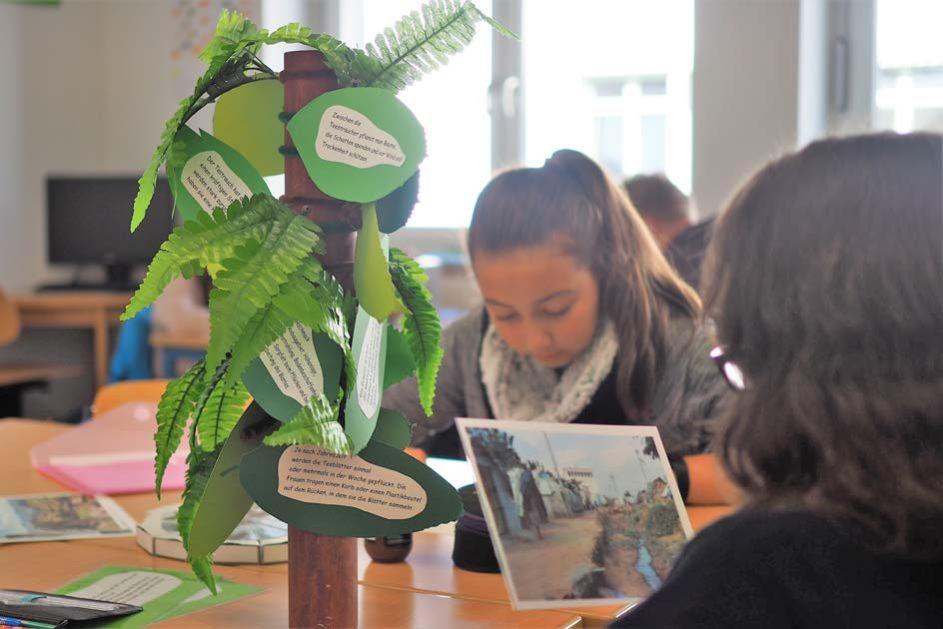 Das Lernen erfolgt nicht nach Fächern, sondern nach Themenfeldern, die Fragestellungen aus verschiedenen Lernbereichen beinhalten.
