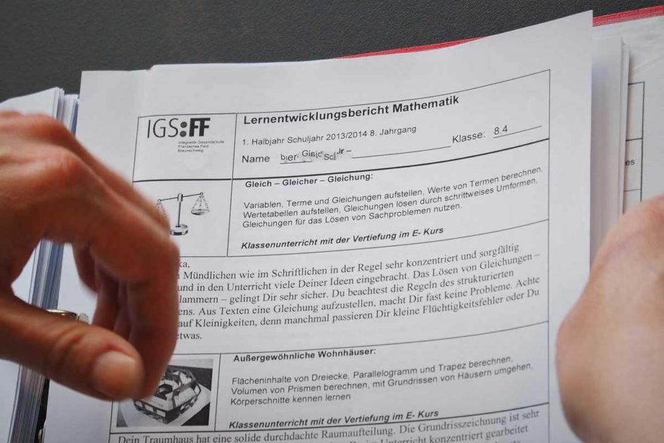 Lernentwicklungsbericht der Integrierten Gesamtschule Franzsches Feld in Braunschweig