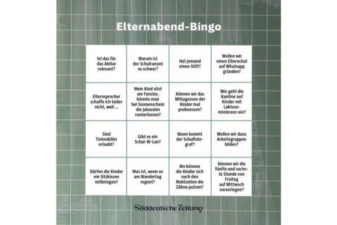 Elternabend-Bingo
