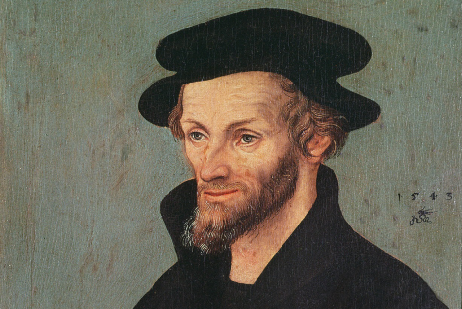 Der Philosoph Melanchthon wurde von Lucas Cranach d. Ä. porträtiert. Das Porträt ist datiert von 1543