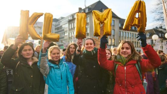 Demonstrieren für besseres Klima