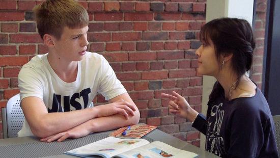 Lehrer-Schüler-Gespräch