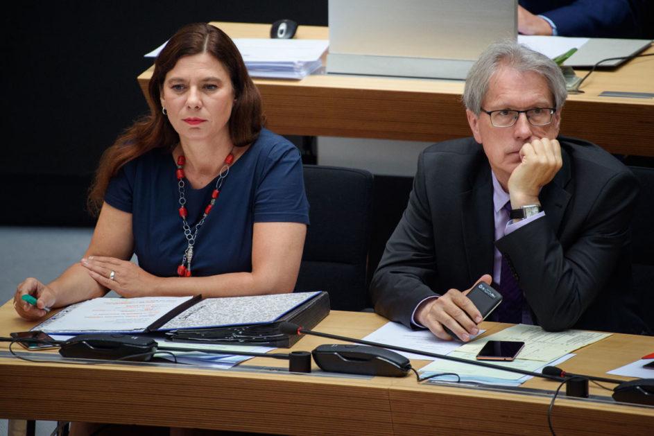Uneins beim Thema Verbeamtung: SPD-SenatorInnen Scheeres (l.) und Kollatz