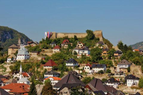 Kleinstadt Jajce in Bosnien-Herzegowina
