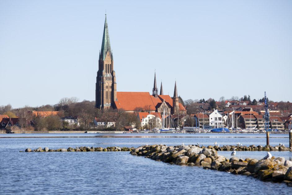 Blick auf die Stadt Schleswig an der Schlei