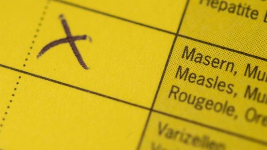 Impfbuch Kreuz Masernimpfung