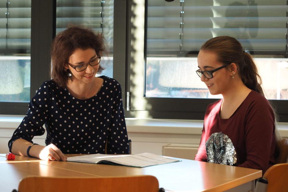 Schüler-Lehrer-Gespräch