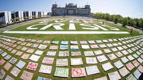 Klimaprotest vor dem Reichstag