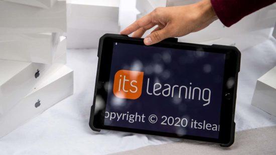"""Die an Bremer Schulen genutzte Lernplattform """"itslearning"""" ist auf einem Tablet zu sehen."""