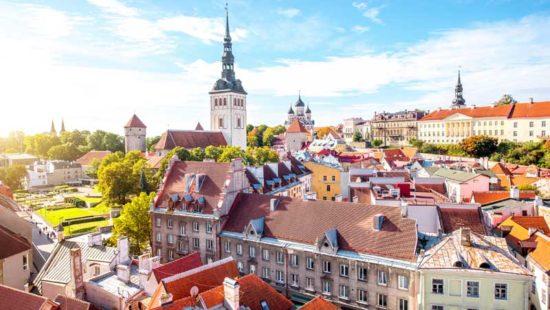 Stadtansicht Tallinn von oben