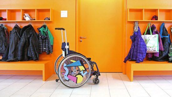 Inklusion Rollstuhl Schule