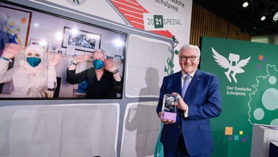 Bundespräsident Frank-Walter Steinmeier bei der Preisverleihung