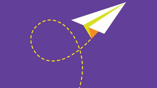 Papierschwalbe Symbol Kompetenzen für die Zukunft