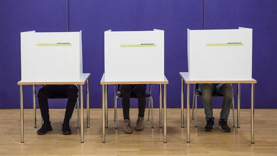Wahlurnen für die Juniorwahl